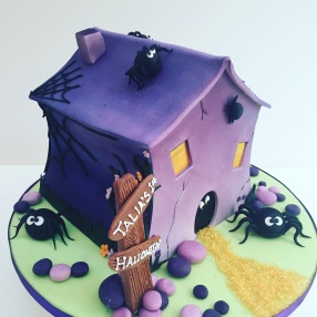 Spooky Haunted House Cake
